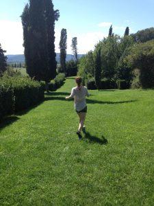 Running in Garden